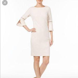 Calvin Klein split sleeve pearl dress